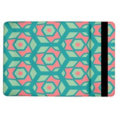 Pink Honeycombs Flowers Pattern  			apple Ipad Air Flip Case by LalyLauraFLM