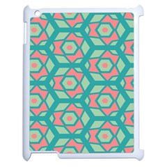 Pink Honeycombs Flowers Pattern  			apple Ipad 2 Case (white) by LalyLauraFLM