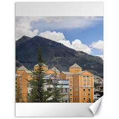Buildings And Mountains Urban Scene In Quito Ecuador Canvas 18  X 24   by dflcprints