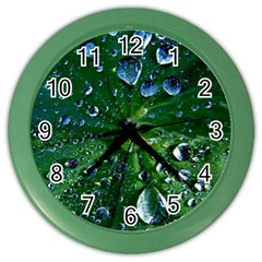 Morning Dew Color Wall Clocks by Costasonlineshop
