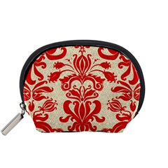 Ruby Red Swirls Accessory Pouches (small)  by SalonOfArtDesigns
