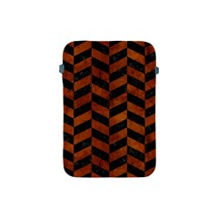 Chevron1 Black Marble & Brown Burl Wood Apple Ipad Mini Protective Soft Case by trendistuff
