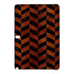 Chevron1 Black Marble & Brown Burl Wood Samsung Galaxy Tab Pro 10 1 Hardshell Case by trendistuff
