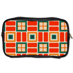 Squares And Rectangles In Retro Colors Toiletries Bag (two Sides)