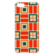 Squares And Rectangles In Retro Colors 			apple Iphone 5 Seamless Case (white) by LalyLauraFLM