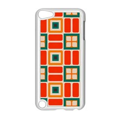 Squares And Rectangles In Retro Colors 			apple Ipod Touch 5 Case (white) by LalyLauraFLM