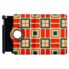 Squares And Rectangles In Retro Colors 			apple Ipad 2 Flip 360 Case by LalyLauraFLM