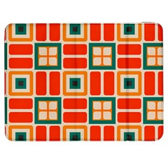 Squares And Rectangles In Retro Colors 			samsung Galaxy Tab 7  P1000 Flip Case by LalyLauraFLM