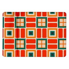 Squares And Rectangles In Retro Colors 			samsung Galaxy Tab 10 1  P7500 Flip Case by LalyLauraFLM