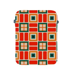 Squares And Rectangles In Retro Colors 			apple Ipad 2/3/4 Protective Soft Case by LalyLauraFLM