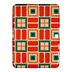 Squares And Rectangles In Retro Colors 			samsung Galaxy Tab 4 (10 1 ) Hardshell Case by LalyLauraFLM