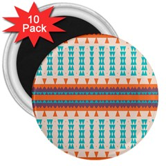 Etnic Design 			3  Magnet (10 Pack) by LalyLauraFLM
