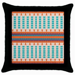 Etnic Design 			throw Pillow Case (black) by LalyLauraFLM