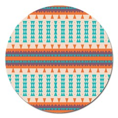 Etnic Design 			magnet 5  (round) by LalyLauraFLM