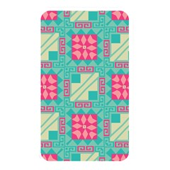 Pink Flowers In Squares Pattern 			memory Card Reader (rectangular) by LalyLauraFLM