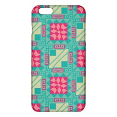 Pink Flowers In Squares Pattern 			iphone 6 Plus/6s Plus Tpu Case by LalyLauraFLM