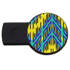 Tribal Angles 			usb Flash Drive Round (2 Gb) by LalyLauraFLM