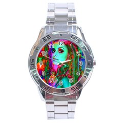 Alice In Wonderland Stainless Steel Men s Watch by icarusismartdesigns