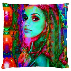 Alice In Wonderland Large Cushion Cases (one Side)  by icarusismartdesigns
