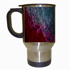 Metallic Abstract 1 Travel Mugs (white) by timelessartoncanvas