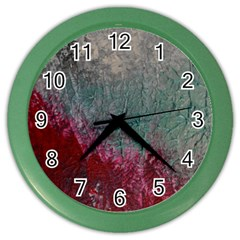 Metallic Abstract 1 Color Wall Clocks by timelessartoncanvas
