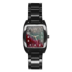Metallic Abstract 1 Stainless Steel Barrel Watch by timelessartoncanvas