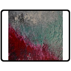 Metallic Abstract 1 Double Sided Fleece Blanket (large)  by timelessartoncanvas