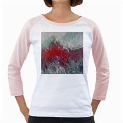 Metallic Abstract 2 Girly Raglans by timelessartoncanvas