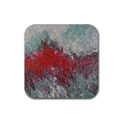 Metallic Abstract 2 Rubber Square Coaster (4 Pack)  by timelessartoncanvas