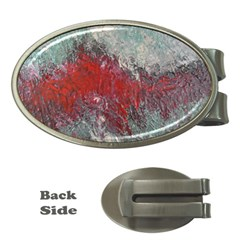 Metallic Abstract 2 Money Clips (oval)  by timelessartoncanvas