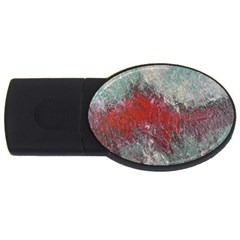 Metallic Abstract 2 Usb Flash Drive Oval (2 Gb)  by timelessartoncanvas