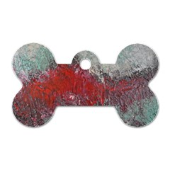 Metallic Abstract 2 Dog Tag Bone (two Sides) by timelessartoncanvas