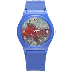Metallic Abstract 2 Round Plastic Sport Watch (s) by timelessartoncanvas