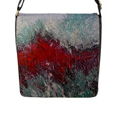 Metallic Abstract 2 Flap Messenger Bag (l)  by timelessartoncanvas