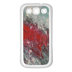 Metallic Abstract 2 Samsung Galaxy S3 Back Case (white) by timelessartoncanvas