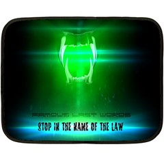 Stop In The Name Of The Law Double Sided Fleece Blanket (mini)
