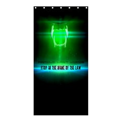 Stop In The Name Of The Law Shower Curtain 36  X 72  (stall)  by RespawnLARPer