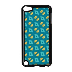 Blue Yellow Shapes Pattern 			apple Ipod Touch 5 Case (black) by LalyLauraFLM