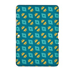 Blue Yellow Shapes Pattern 			samsung Galaxy Tab 2 (10 1 ) P5100 Hardshell Case by LalyLauraFLM