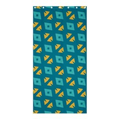 Blue Yellow Shapes Pattern 	shower Curtain 36  X 72  by LalyLauraFLM