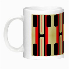 Rectangles And Stripes Pattern Night Luminous Mug by LalyLauraFLM