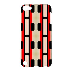 Rectangles And Stripes Pattern 			apple Ipod Touch 5 Hardshell Case by LalyLauraFLM