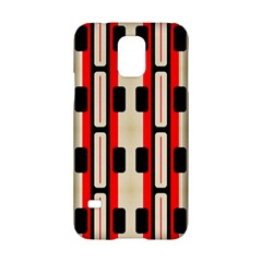 Rectangles And Stripes Pattern 			samsung Galaxy S5 Hardshell Case by LalyLauraFLM