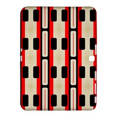 Rectangles And Stripes Pattern 			samsung Galaxy Tab 4 (10 1 ) Hardshell Case by LalyLauraFLM