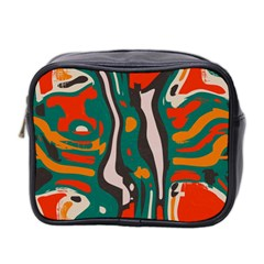 Retro Colors Chaos Mini Toiletries Bag (two Sides) by LalyLauraFLM