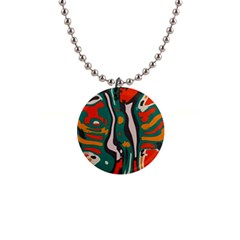 Retro Colors Chaos 			1  Button Necklace by LalyLauraFLM
