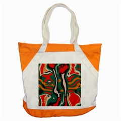 Retro Colors Chaos 			accent Tote Bag by LalyLauraFLM