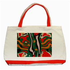 Retro Colors Chaos 			classic Tote Bag (red) by LalyLauraFLM