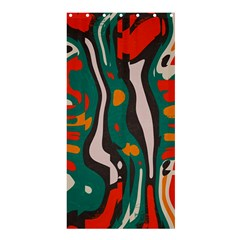 Retro Colors Chaos 	shower Curtain 36  X 72  by LalyLauraFLM