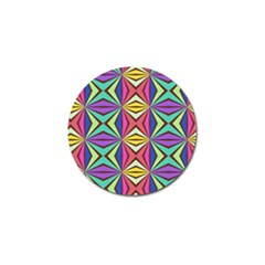 Connected Shapes In Retro Colors  			golf Ball Marker (4 Pack) by LalyLauraFLM